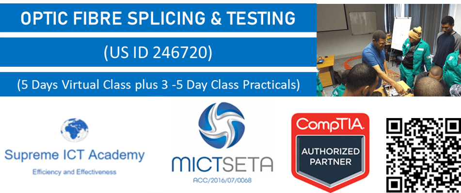 Blended Learning-Optic Fibre Splicing & Testing (US 246720)